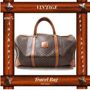 6bb28111b2 Celine TRAVEL BAG SATCHEL BAG BOSTON BAG LEATHER